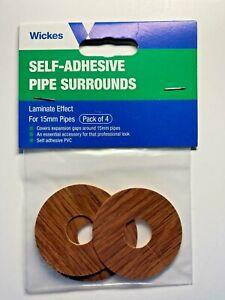 4 x Self Adhesive Pipe Covers / Radiator Rings for Laminate & Wood Floors