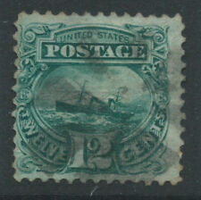More details for usa 1896 sg119 12c blue-green - grill - good used. catalogue £180