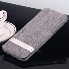 G-CASE Galaxy S8 Note 8 Flip Wallet Case Nylon Canvas Kickstand Cover Fr Samsung