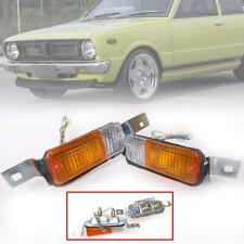 FRONT BUMPER PARKING TURN SIGNAL LIGHTS LAMP FITS TOYOTA COROLLA KE30 KE35 TE37