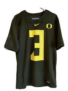 NWT Men's S Nike #3 Nightmare Dark Green Oregon Ducks 2020 Football Game Jersey