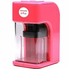 NEW Avalon Electronic Pencil Sharpener with Built in Safety Feature Pink