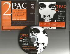 2PAC 2 Pac I wonder If Heaven got Ghetto MIX& INSTRUMENTAL PROMO CD single Tupac