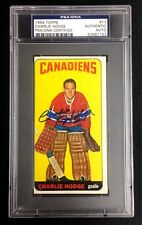 CHARLIE HODGE SIGNED 1964 TOPPS MONTREAL CANADIENS HOCKEY CARD #17 PSA/DNA Auto