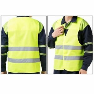 Yellow Jogging Cycling Safety Vest Adult Size Unisex