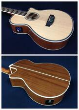 4-String Haze 4/4 Acoustic Bass Guitar w/EQ,Built-in Tuner+Free Bag FB-711BCEQ/N