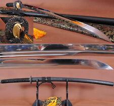 AISI 1095 STEEL FULLTANG BLADE JAPANESE SAMURAI SWORD UNOKUBI ZUKURI KATANA SHAR