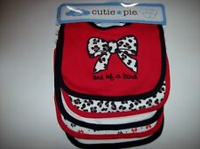 Cutie Pie Bibs Girls 5pc Layette Set Baby Infant One of a Kind Cheetah Bows  NWT