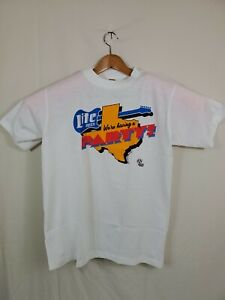 TEXAS Vintage We're Having A Party 1989 Size Large T Shirt Single Stitch