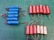 Vintage Vacuum Tube Capacitors , EX Military Navy , 2.0uf 200v , 0.5uf 250v