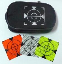 Reflex Zielmarken 40mmx40mm, Weiß, Orange, Seladon 99 Stück! Tasche kostenlos