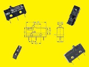 Cherry Miniatur Micro Taster Schalter Switch DB2G 1 x UM 10A 250VAC 2 x
