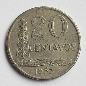 1967 Brazil 20 Centavos, KM# 579
