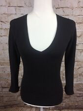 Esprit Collection Womens Brown V-neck Sweater Small