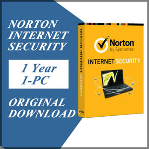 Symantec Norton Internet Security 2021 Antivirus Windows Version 1 Year / 1 PC