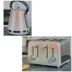 NEW BEAUTIFUL - Sparkle Ombre 4 slice toaster and kettle set