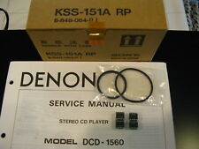 Denon Belt A B DCD-1420 DCD-1500II DCD-1520 DCD-1560 2560 3520 3560 CD Player