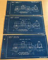 Pennsylvania Railroad 1931 Train Tank Car Blueprints TM8 TM10 TM12