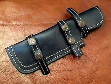 Handmade Well Stitched Leather Sheath- Knife-Black-Bushcraft-JayGer-S6