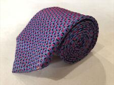Turnbull Asser Men's Purple/Blue Geometric Silk Neck Tie $395