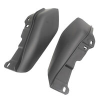 Black Mid-Frame Heat Shield Air Deflectors Accent for Harley Touring 2009-2017