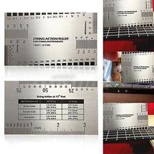 Guitar String Action Setup Gauge Inch Ruler For Acoustic Electric Guitar