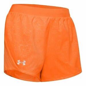Under Armour Women's UA Mileage 2.0 Printed Shorts Small Orange 1355479-841