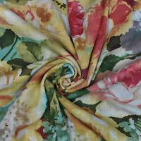 "43 ""Wd Multicolor Stoff Blumendruck Handwerk Nähen Bekleidung Kleid Stoff"