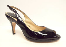 COLE HAAN Size 11 AA Narrow Black Patent N. Air Open Toe Heels Pumps Shoes