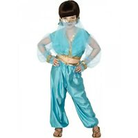 Child Girls Jasmine Arabian Princess Costume Belly Dancer Aladdin Genie Size 7-9