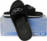 Uomo Pantofole da Bagno Von Arena Push 3, Ciabatte Spiaggia Nero/Bianco