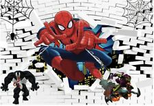 New listing Spiderman Backdrop Boys Birthday Party Custom Background Photo Studio Decor