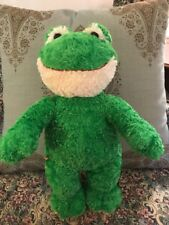 "Build A Bear Green Frog 18"" Plush Stuffed Animal Soft Smiling Happy Frog #M8"