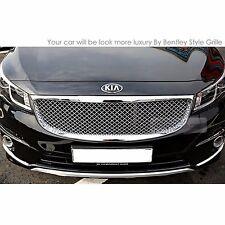 Bentley Style Chrome Front Bonnet Mesh Grille For KIA 2015-2017 Sedona Carnival