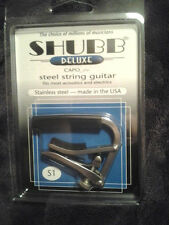 Shubb S1 Stainless Steel Guitar Capo for Steel String Guitars NiB FREE ship