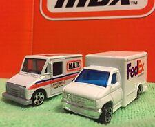 Lot Of 2 Matchbox Delivery Trucks MBX 2000 MBX Mail Postal & Ford FedEx Box Van