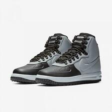 New Mens Nike Air Force1 Lunar Force 1 Duckboot Trainer 18 Black/Wolf Grey