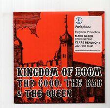 (JC338) Kingdom Of Doom, The Good The Bad & The Queen - 2006 DJ CD