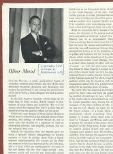 Oliver Messel Artist Theatre Designer Glyndebourne Opera article 1955 Jx1330
