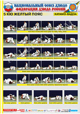 Posters Judo. Yellow belt 1 poster.The technique of judo.Katame Waza.