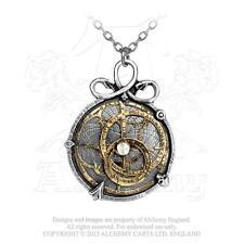 Anguistralobe ALCHEMY Gothic Pendant SERPENT Steampunk Astrolabe Necklace