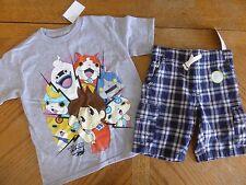 New Boy size 4/ 4t Yo Kai Watch Summer Clothes LOT Shorts Top retail NWT tee $34
