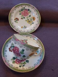 Antique Victorian Thomas Goode/ Spode Cup Saucer Cake plate mismatched mint rare
