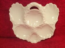 Antique Snow White French Limoges Oyster Plate c.1891-1896, op315  GIFT QUALITY!
