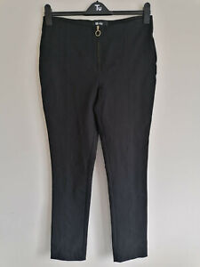 ME+EM Black Stretch Soft Denim Skinny Jeans Zip Detail Size 31