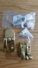 TOILET SEAT HINGES BRASS GOLD EFFECT REPLACEMENT FITTINGS BY SHOWER DRAPE.