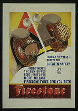 Firestone Tyres 1932 1 Page Advertisement Advert Ad