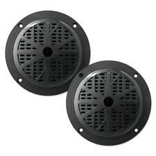 Pair of Marine Speakers Waterproof Boat Pyle Audio White Stereo 6.5 Inch Speaker