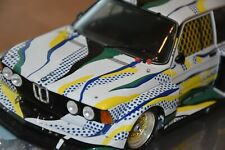 SALE!! BMW Art CAR Roy Lichtenstein, 1:18, BMW 320i Gruppe 5, OVP, SEHR SCHÖN !!