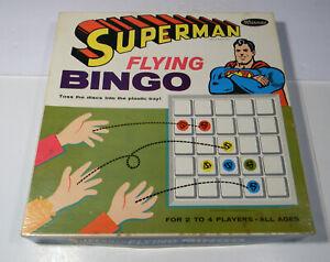 VINTAGE 1966 SUPERMAN FLYING BINGO BY WHITMAN COMPLETE